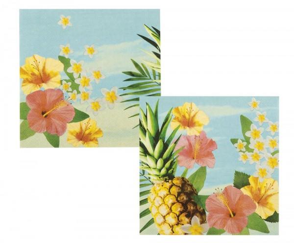 12 tovaglioli colorati Hawaii 33cm