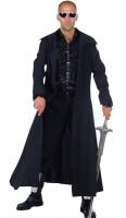 Schwarzer Langer Mantel Herrenkostüm