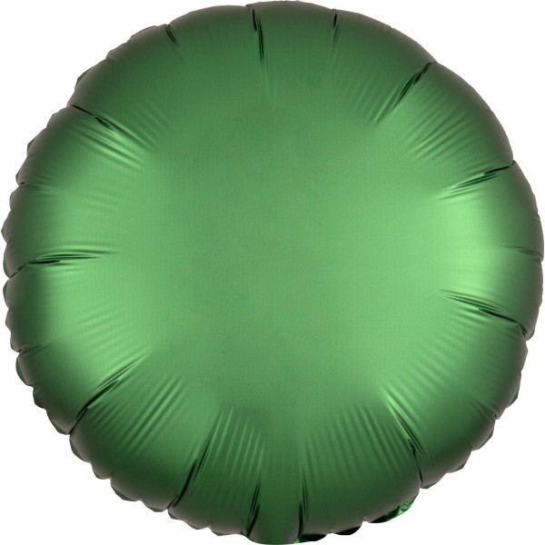 Satin Foil Balloon Emerald Green 43cm