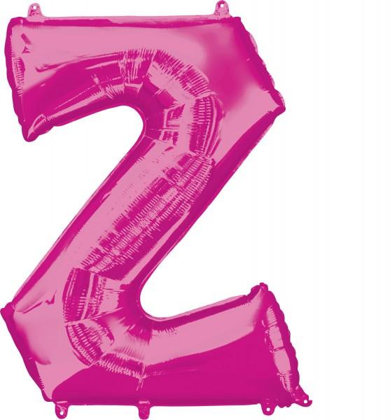 Foil balloon letter Z pink XL 83cm