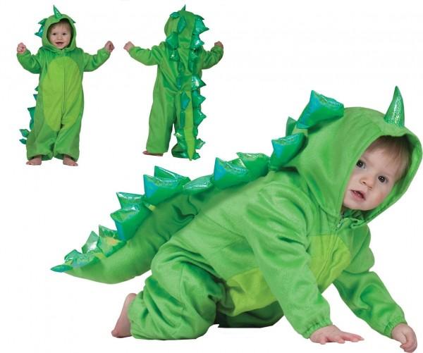 Groen babydraak kinderkostuum