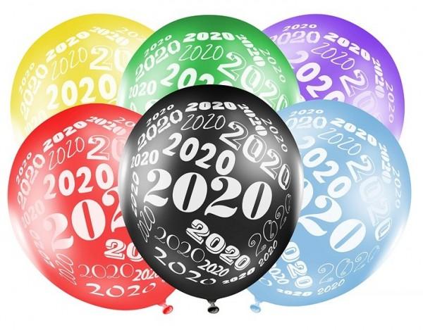 6 Welcome 2020 Luftballons 30cm