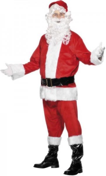 Samtes Weihnachtsmann Kostüm Herren