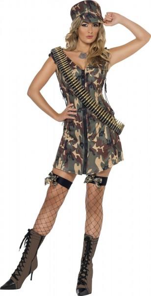Soldatin Roxy Damenkostüm Camouflage