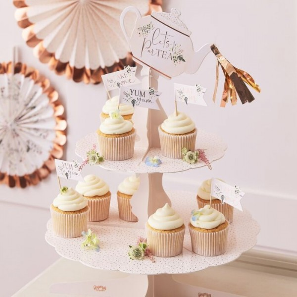 Birthday Teaparty Cupcake Stand