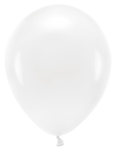 100 Eco Pastell Ballons weiß 26cm