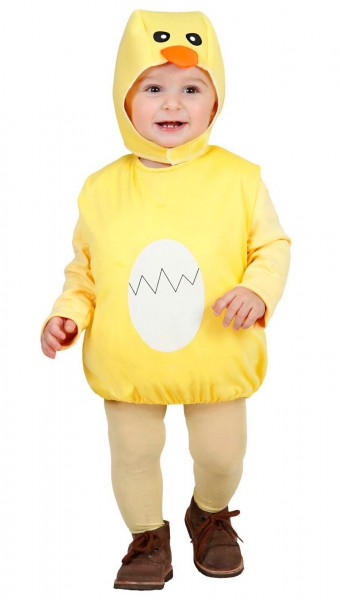 Fluffy chick Toddler costume