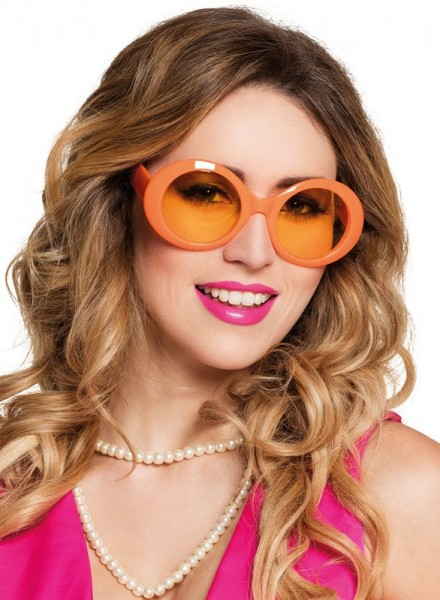Occhiali al neon vintage arancio