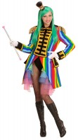 Regenbogen-Frack Zirkusdirektorin Damen
