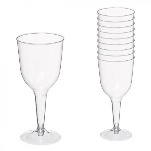 20 plastic wine glasses 295ml