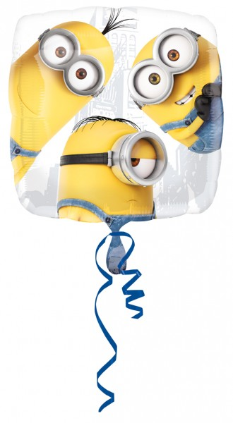 Eckiger Folienballon Minion Trio