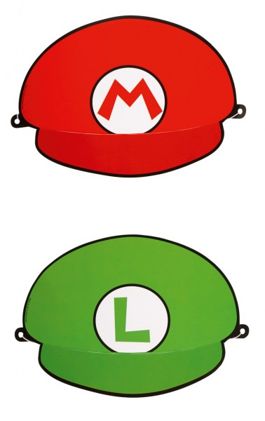 Super Mario Brothers party hats