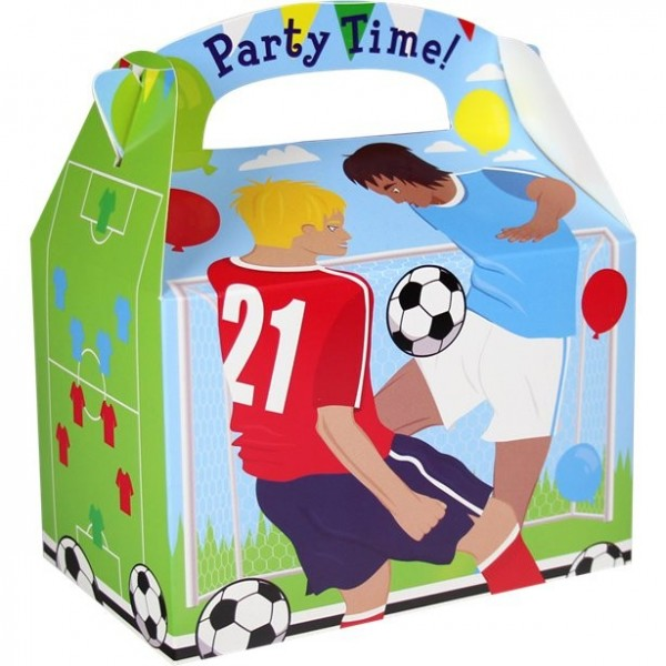 Coffret cadeau football party rectangulaire 15cm