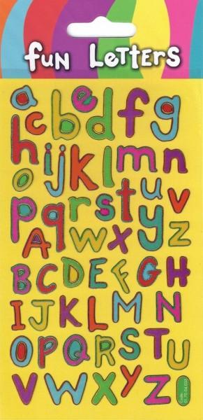 Autocollants lettres colorées 9,5 x 19,5 cm