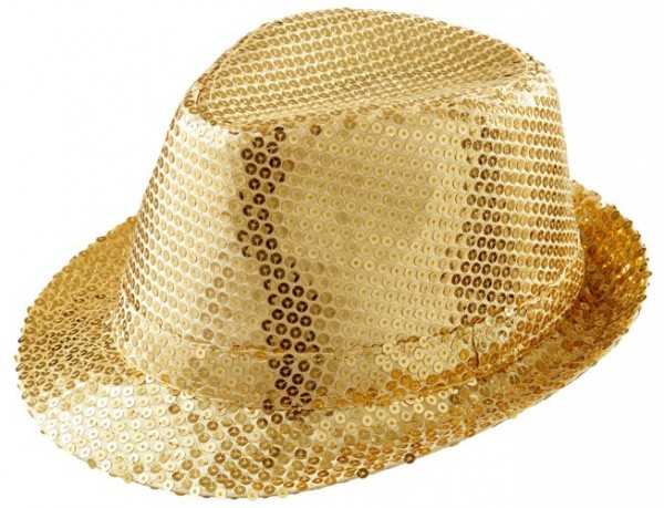 Goldener Party Pailletten Hut