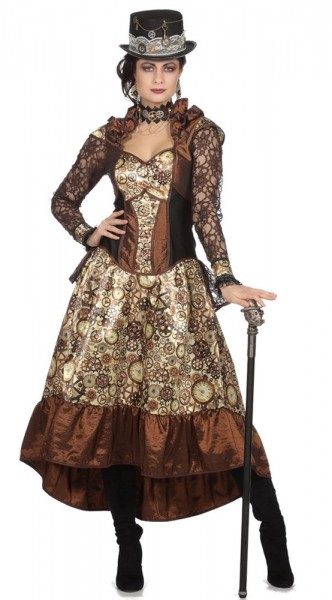 Noble Steampunk dameskostuum Amalia