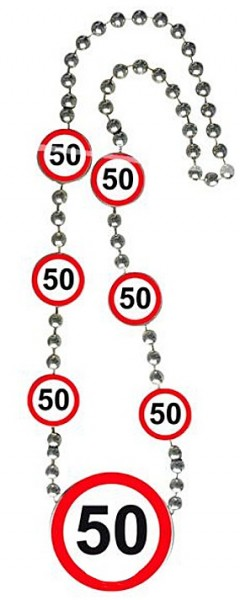 Road sign 50 necklace