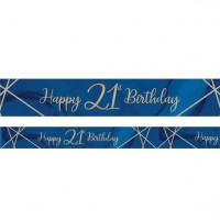 Luxurious 21th Birthday Banner 2,74m