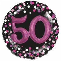 Pink 50th Birthday Folienballon 81cm