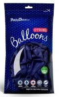 10 Partystar Luftballons dunkelblau 30cm