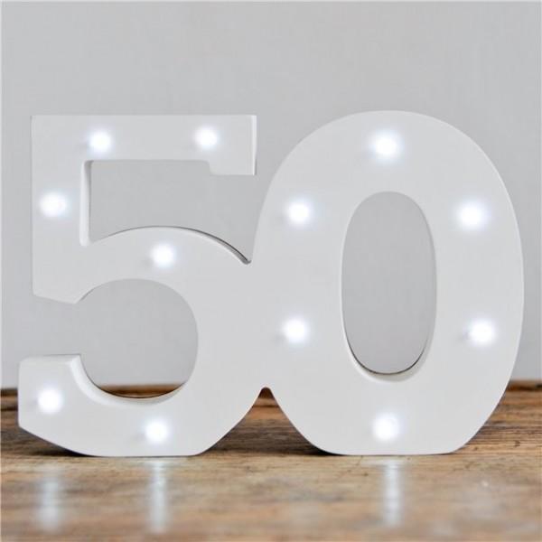 Wyświetlacz LED numer 50 16 x 32 cm
