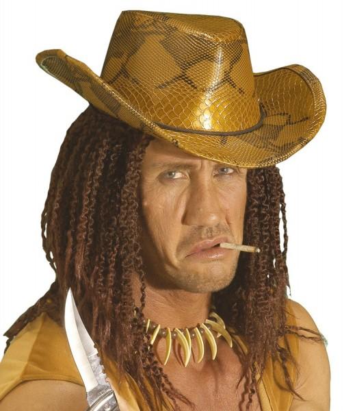 Cowboyhut Cobra Mit Schlangenlederoptik