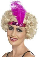 Pinkes Charleston Pailletten Stirnband