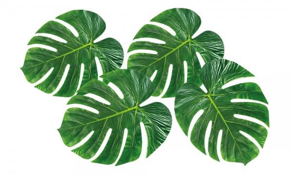 4 feuilles de palmier vertes d'Hawaï