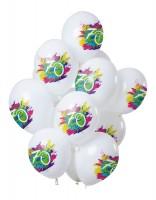 70.Geburtstag 12 Latexballons Color Splash