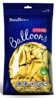 100 Partystar metallic Ballons zitronengelb 27cm