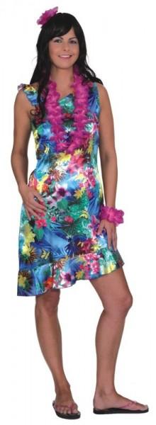 Robe Hawaï Alohaa à fleurs pour femme