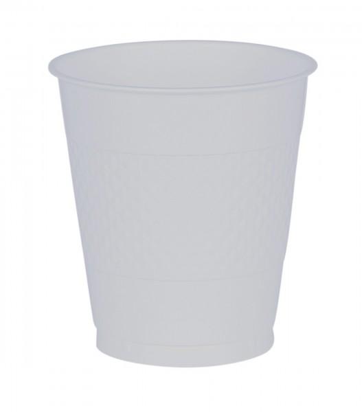 10 gobelets en plastique transparent 355 ml