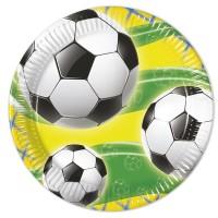 8 Fußball WM Pappteller 20cm
