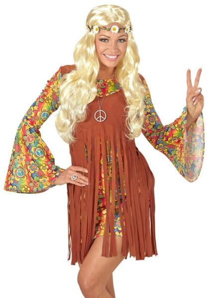 Blumige Hippie-Perücke Blond 3