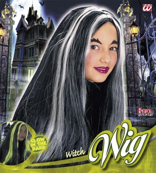 Langhåret hekseparyk med glødeffekt