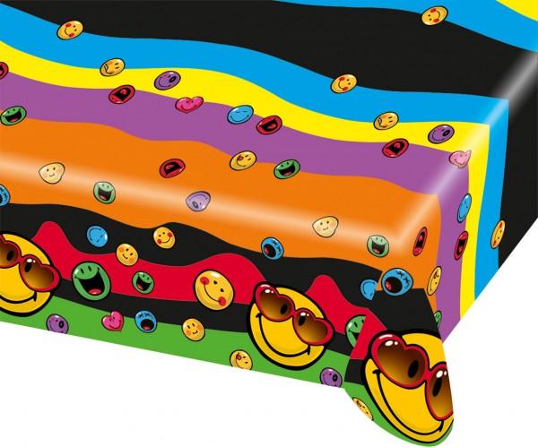 Bunte Smiley Tischdecke Express Your Feelings 120x180cm