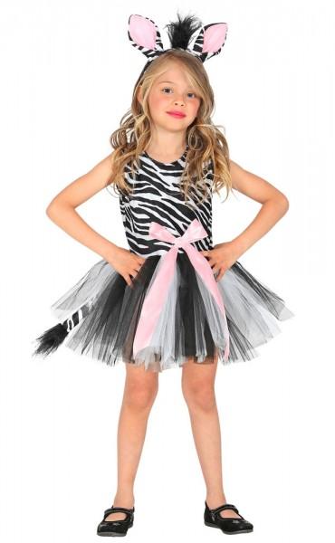 Zauberhaftes Zebra Kinderkostüm