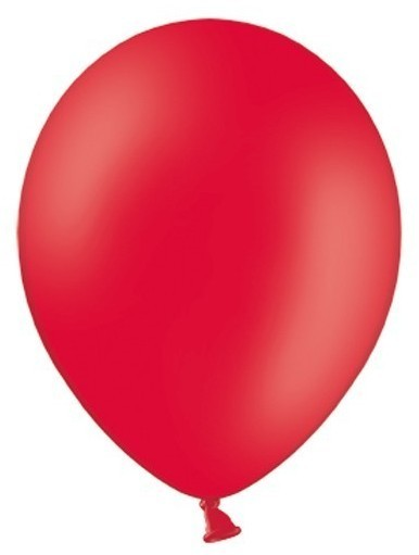 100 party star balloons red 30cm