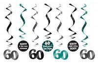 7 Wild 60th Birthday Spiralhänger 60cm