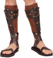 Romeinse beenwarmers leerlook