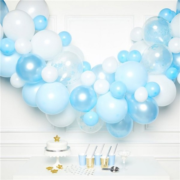 Blue charm balloon garland
