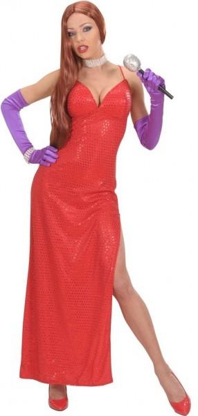 Rotes Paillettenkleid Für Damen