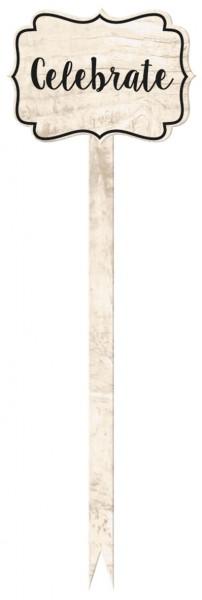 12 Profitez des cueilleurs en bois 13,9 cm