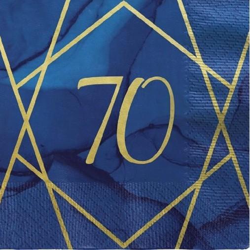 16 Luxurious 70th Birthday Servietten 33cm