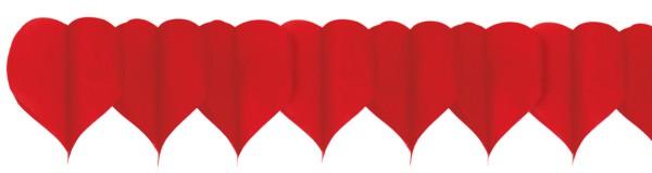 Guirnalda de corazones de San Valentín 4m