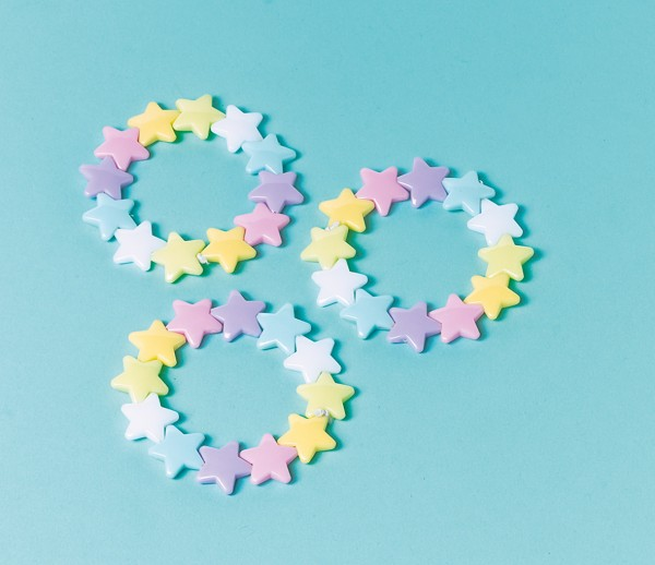 Bezaubernde Stern Armbänder Bunt 12 Stück