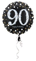 Golden 90th Birthday Folienballon 43cm