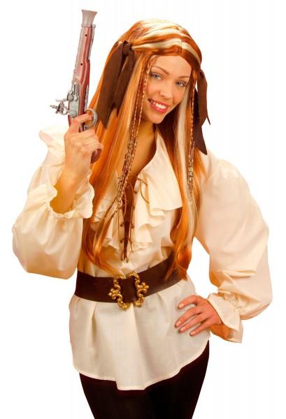 Blusa pirata pomposa color crema