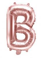 Folienballon B roségold 35cm