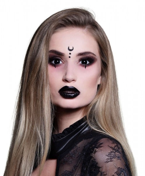 Schwarze Halloween 3-Monatskontaktlinse